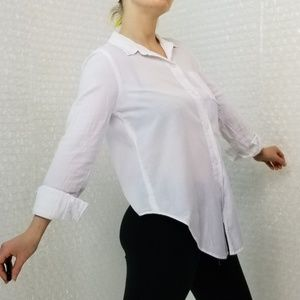 Madewell Tops - Madewell white tie-front button-up shirt
